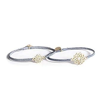 Mutter Tochter Armband Mandala Silber vergoldet