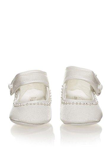 Sevva, Baby chaussures Filles, filles chaussures de baptême, Babies chaussures, Nourrisson 0 - 4 Ivoire