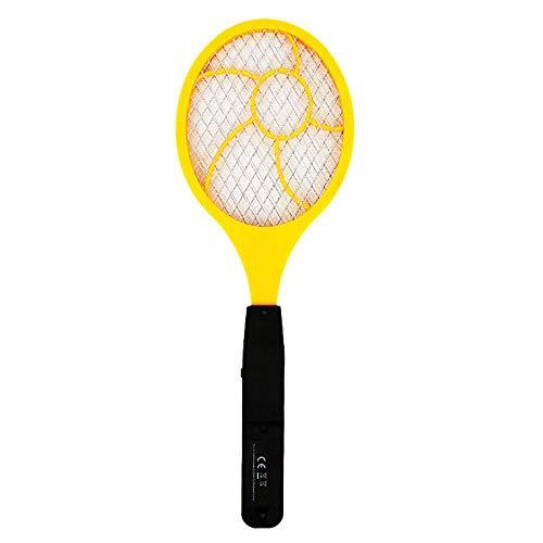 TOOGOO Palmeta Matamoscas para Mosquito Electrico Led Matamoscas Raqueta De Tenis Electrica 44 x 15.5 Matador De Mosquito Avispa