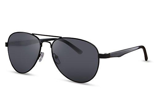 Sonnenbrille Top (Cheapass Piloten-Sonnenbrille Schwarz Aviator Flieger-Brille UV-400 Metall-Rahmen Top-Gun Damen Herren)