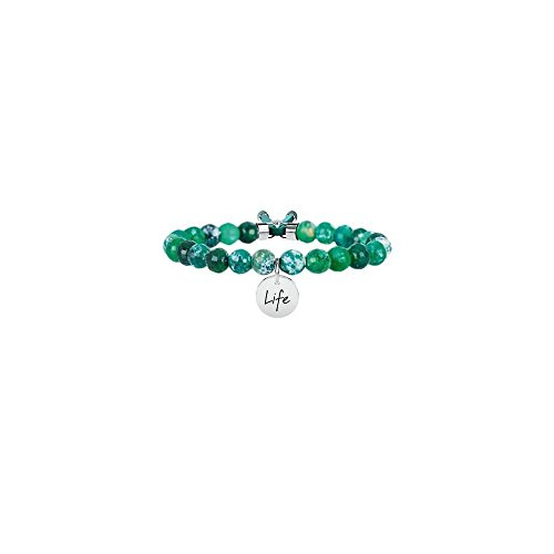 Agata verde armonia, unica, argento