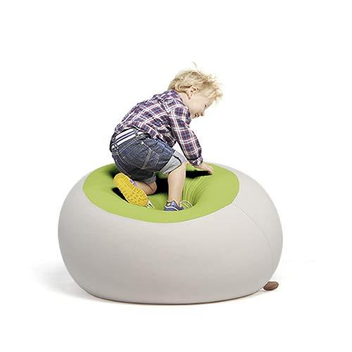 Terapy - STANLEY Relax Indoor Sitzsack - Sitzkissen, 70x70x60cm in hellgrau / grün