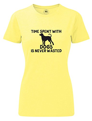 Time Spent with Dogs Is Never Wasted Funny Animal Women's T Shirt
