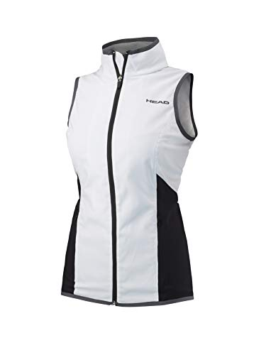 HEAD Damen Club Vest Women Trainingsanzüge, weiß, S