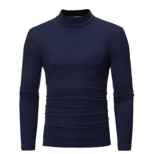 Winter Classic Foto (feiXIANG Herren Top Sweatshirt Basic Classic Solide Bluse Langarm Pullover Herbst Winter Sportbekleidung(B-Marine,M))