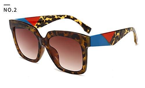 NSYJDSP 46025 Platz Medusa Sonnenbrille Männer Frauen Trending Styles Vintage Marke Brille Mode Männlich Weiblich C2 Leopard Tee