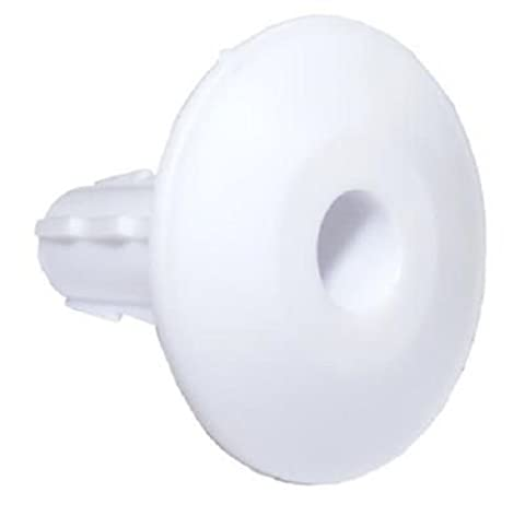 Pack of 12 Single White Feed-Thru Cable Wall Entry Grommets by electrosmart® ~ Suitable for most RG6 / WF100 Cable