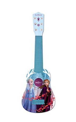 Lexibook K200FZ Disney Frozen 2 Die Eiskönigin ELSA Anna Meine erste Gitarre für Kinder, 6 Nylonsaiten, 53 cm, Anleitung inklusive, Blau/Violett