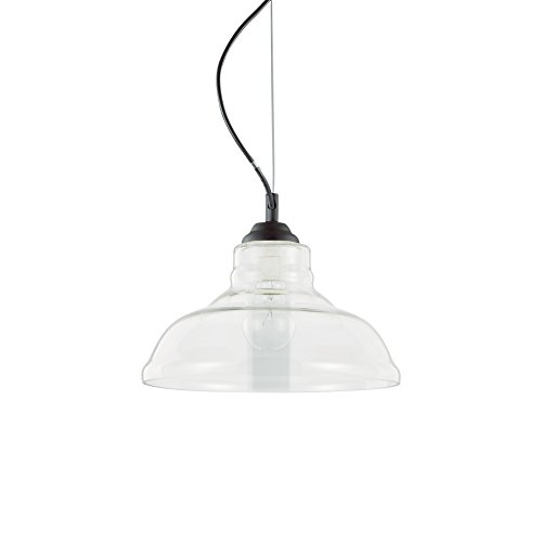 Ideal Lux Lampe suspension Bistro plate couleur transparent Monture Métal