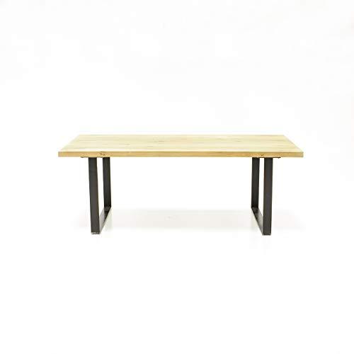 Meubletmoi Table à Diner 180 cm chêne Massif et métal - Design Industriel Factory - Qualité & Authenticité - Collection Originale FABRIK