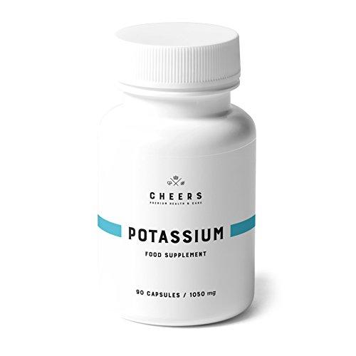 Kalium Ergänzungsmittel Von Cheers -Hoch-Absorbierbares Kalium Citrat - 90 Vegane Kapseln(780 mg)