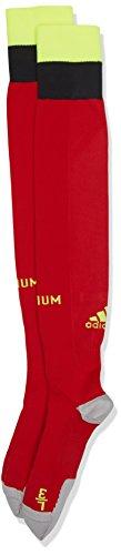adidas Trickot Belgien Heimsocken Replica 1 Paar, rot, 40-42, AA8739 (Nylon Sock Football Pro Herren)