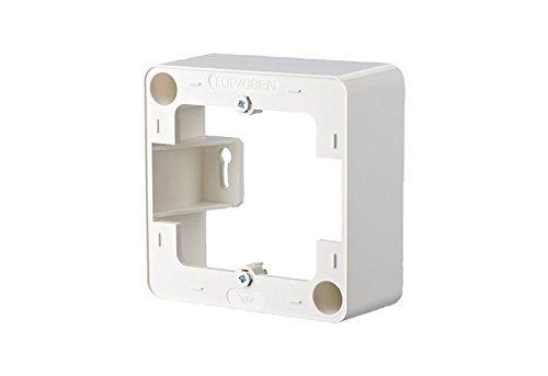 Preisvergleich Produktbild METZ CONNECT Aufputzrahmen 85 x 85mm 1-fach, reinweiß RAL 9010; Zur Verwendung einer UP-Dose als AP-Dose; Abmessungen (LxBxH) 85 x 85 x 36 mm; BTR 130829-02-I