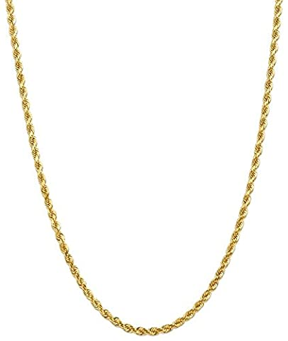 IceCarats Designer Schmuck Leslies 14K 4,00 mm Diamond Cut Rope Chain In 24 Zoll