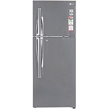 lg 260 l 4 star frost free double door refrigerator(gl-i292rpzl apzzebn,  shiny steel, inverter compressor)