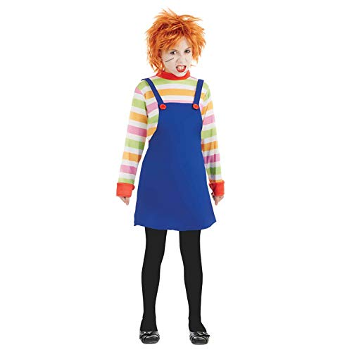 Kostüm, Girls, Possessed Doll Dress, XL Ages 10-12 Years ()