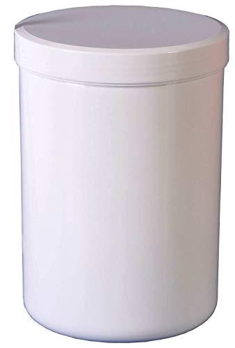 20 Schraubdose Salbendosen 1000g 1250 ml Deckel weiß Salbendöschen
