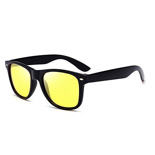 SUNGLASSES Driving Mirror Polarizer Herren Klassische Mode Wild New Sonnenbrille (Farbe : Black Box Night Vision Yellow)