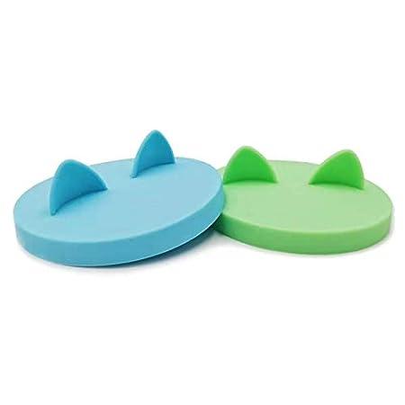 GuMan Silikon-Deckel für Dosenfutter Konserven- und Dosendeckel für Tierfutter, mit Ohren, Hunde- und Katzenfutter…
