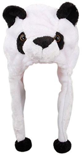 Lukis 1 Stk. Tiermütze Strickmütze Babymütze Plüsch Mütze mit Ohren (Weiß (Mit Elf Ohren Mütze)