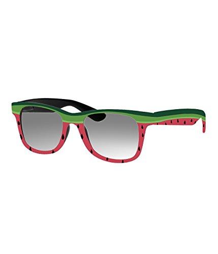 Rockacoca Unisex (Damen Herren) Sonnenbrille mit Design UV400 - Unisex sunglasses with Handpainted Watermelon Design