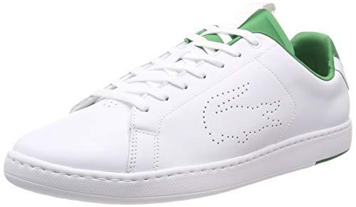 Lacoste Herren Carnaby Evo Light-wt 1191sma Sneaker Weiß (Wht/Grn 082) 45 EU