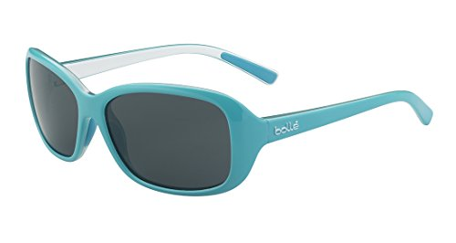 Bolle Turquoise-white Jenny Rectangle Sunglasses Lens Category 3 Lens Mirrored