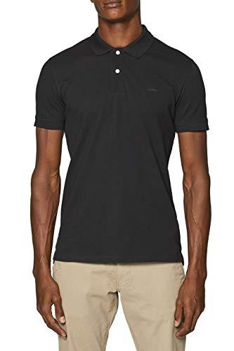 ESPRIT Herren 999EE2K803 Poloshirt, Schwarz (Black 001), Large (Herstellergröße: L)