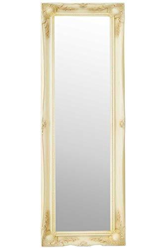 MirrorOutlet Espejo de Pared Grande de Color Marfil de Estilo Antiguo, 135 cm x 45 cm