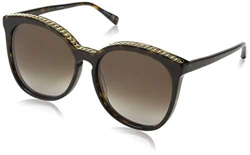 Stella McCartney Unisex-Erwachsene SC0074S 002 Sonnenbrille, Braun (002-Avana/Brown), 59
