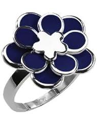 XC38 - 701990113020 - Bague Femme - Fleur - Acier inoxydable - Bleu