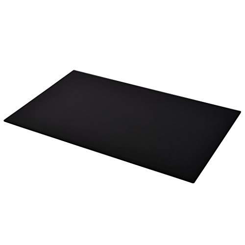 Premium Glasplatte 1200x650 mm Rechteckig Schwarz - aus gehärtetem Sicherheitsglas | Dicke 8 mm ESG | Tischplatte Glastisch Kaminplatte Kaminglas Ofenglas | Bodenplatte Glasbodenplatte | Klar-Glas -