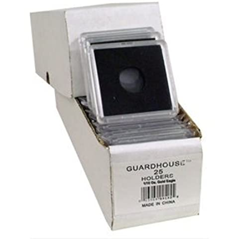 2x2 Coin Holders Box of 25 Guardhouse Snaplocks for 1/10 Ounce Gold Eagles by Guardhouse
