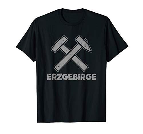 """Erzgebirge Erzgebirgler und Bergmänner \""""2 gekreuzte Hämmer\"""" T-Shirt"""
