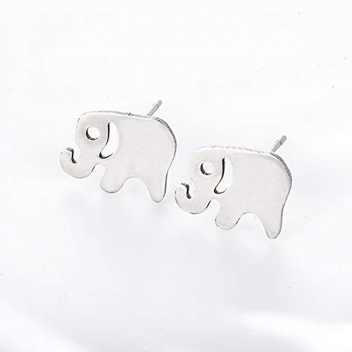 SSEHX Pendientes Joyas de Moda Pendientes de Elefantes Minimalistas Simples Orejas de...