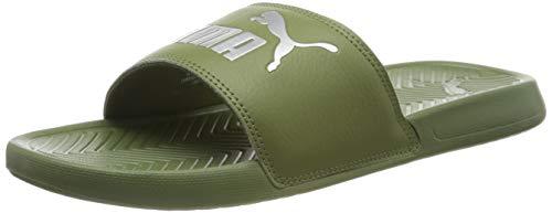 Puma Popcat, Unisex-Erwachsene Dusch- & Badeschuhe, Grün (Olivine-Puma Silver 40), 48.5 EU