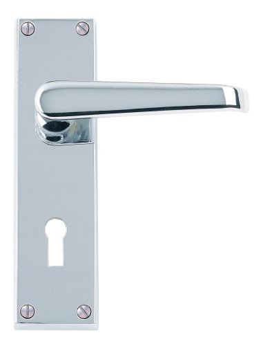 Excel Hardware Victorian Straight Door Handles Lever Lock - Polished Chrome Premium Quality by Doorfittings4u Victorian Tool