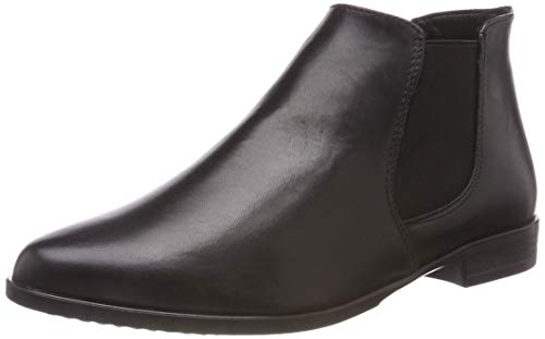 Tamaris Damen 25097-21 Chelsea Boots Schwarz (Black Leather 3) 38 EU