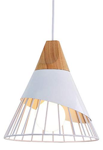 Hang Lampen Pendelleuchten Holz und Aluminium Restaurant Bar Kaffee Esszimmer LED hängende Leuchte white no bulb (Home Depot Pendelleuchte)