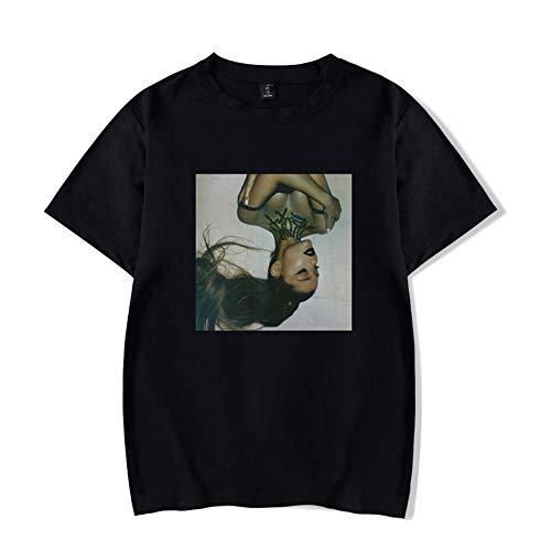 SJZV Ariana Grande Unisex 3D Pattern Druckten Sommer-beiläufige Kurze Hülsen-T-Shirts T-Stücke,Black,M -