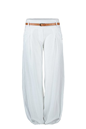 Mr.Shine Chino Pumphose Gr. S-XL (XL, Weiß)