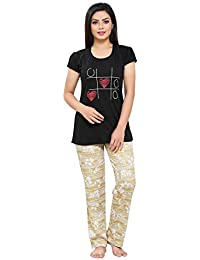 ed66711f38 Boring Dress Hosiery (Cotton Knitted) Top and Pajama Set Night Suit Nighty