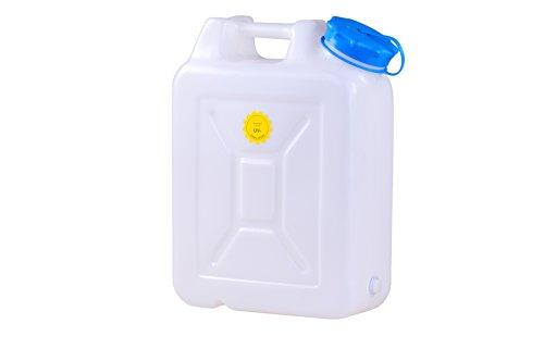 hünersdorff Weithalskanister / Abklärkanister / Mehrzweckkanister mit großer Öffnung zur einfachen Innenreinigung, 22 Liter, UV-Schutz, Made in Germany -