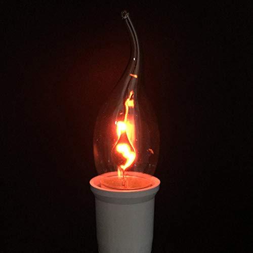 Lampadine a incandescenza Lampadina a LED Edison E14 E27 3W fiamma fuoco illuminazione vintage effetto sfarfallio tungsteno romanzo candela punta lampada arancione rosso @ 35x115_3w