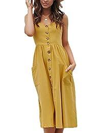 9564bec17b Amazon.es  Vestido Largos De Verano - Recto   Vestidos   Mujer  Ropa