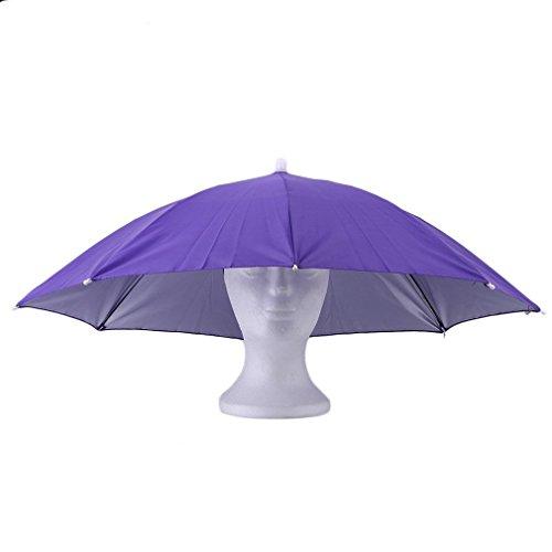 Regenschirm-Hut, bunte Regenschirm-Kopfbedeckung, Sonnenhut - Festivalmode - Damen, Herren, Erwachsene - Verkleidungs-Zubehör - für Golf, Angeln, Camping