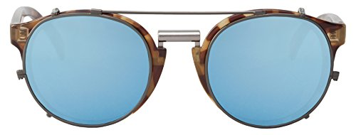 MR BOHO Unisex Sonnenbrille High Constrast Tortoise, Multicolor (Sky Blue Lenses), OneSize