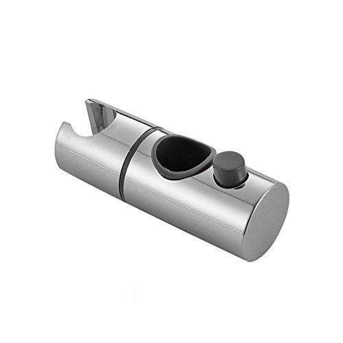 Ocamo Handbrausen Halterung Ersatz ABS Chrom Dusche Schiene Kopf Slider Halter Einstellbare Halterung Badezimmer Zubeh?r 19mm - Handbrause-ersatz-halterung