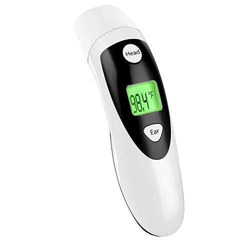 Termometro Medico per Fronte orecchio e fronte Termometro per orecchio Lettura istantanea per fronte Orecchio a infrarossi digitale con allarme febbre per bambini piccoli adulti