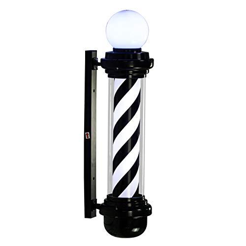 LED Barber Pole Weiß Rot Rotierenden Beleuchtung Streifen Wasserdichte Licht Friseursalon Shop Zeichen,88cm -
